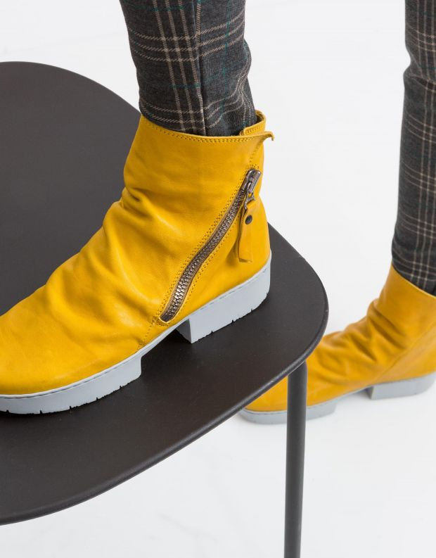 נעלי נשים - Trippen - מגפון TOURIST SPORT - צהוב