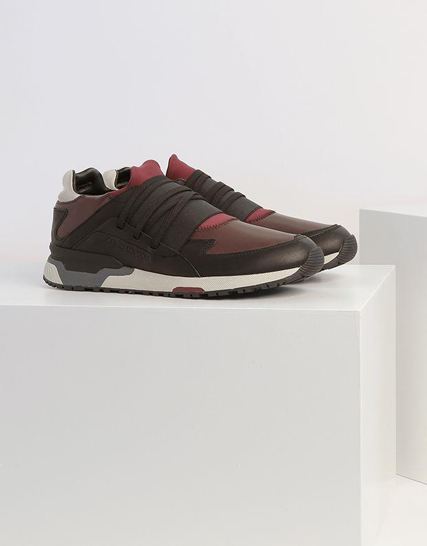 נעלי גברים - Crime London - סניקרס SPRINT - בורדו