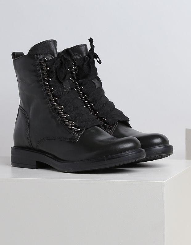 נעלי נשים - Mjus - מגפון קשירה CAFE - אפור