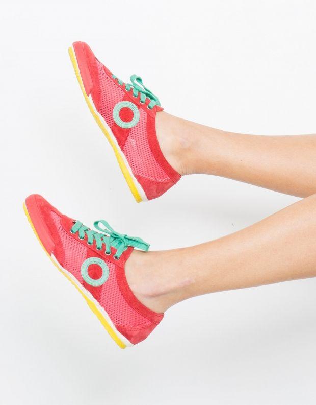 נעלי נשים - Aro - סניקרס JOANETA - אדום   ירוק