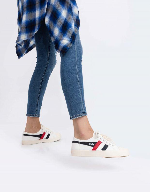 נעלי נשים - Gola - סניקרס COASTER - לבן כחול אדום