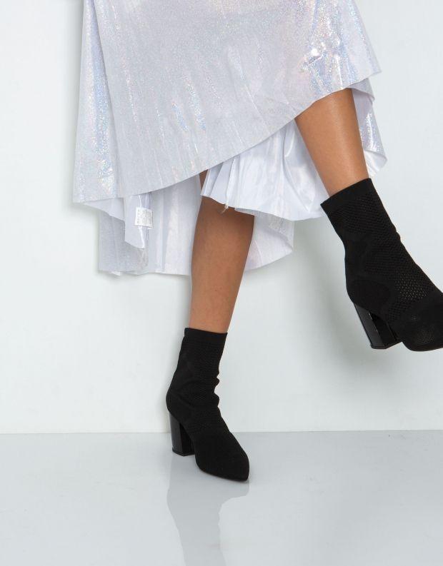 נעלי נשים - Jeffrey Campbell - מגפון FINAL WOVEN - שחור