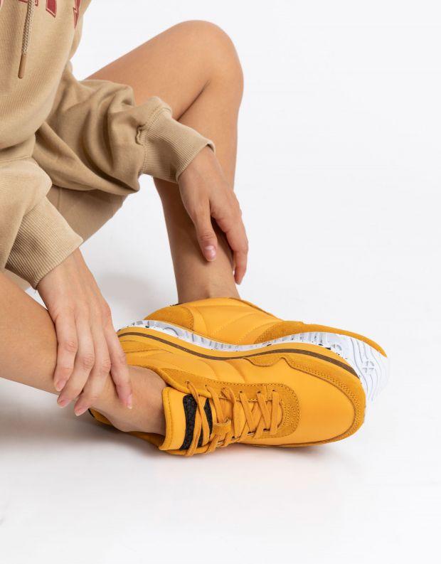 נעלי נשים - Woden - סניקרס NORA PLATEAU - צהוב