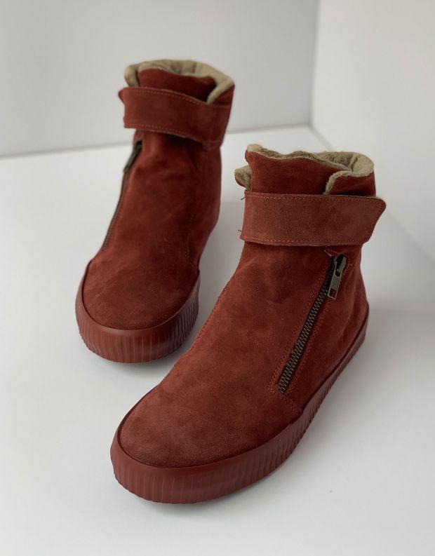 נעלי נשים - Aro - מגפון NOELLE רוכסן סקוטצ' - חמרה