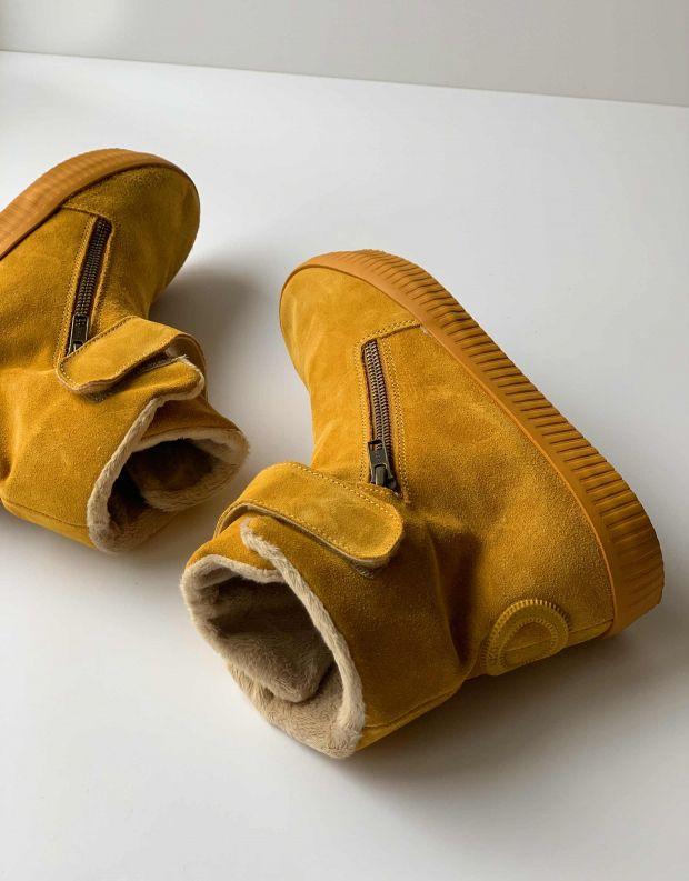 נעלי נשים - Aro - מגפון NOELLE רוכסן סקוטצ' - צהוב