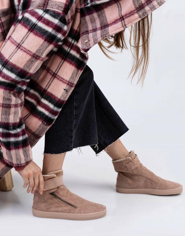 נעלי נשים - Aro - מגפון NOELLE רוכסן סקוטצ' - ניוד