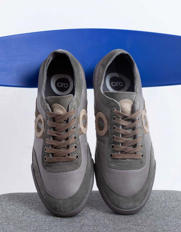 נעלי גברים - Aro - סניקרס IDO - אפור בהיר