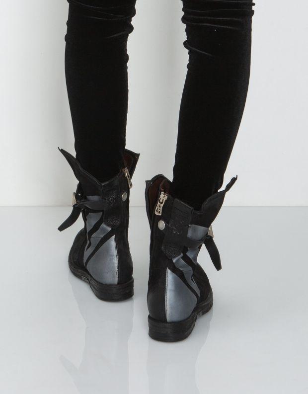נעלי נשים - A.S. 98 - מגפון GIB מודפס - שחור