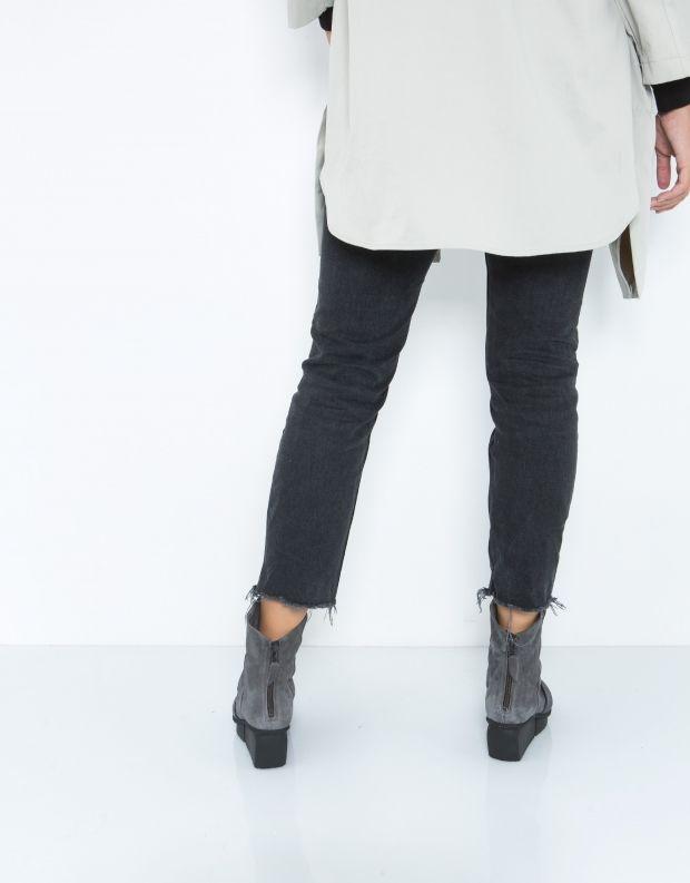 נעלי נשים - Trippen - מגפון LAVA SPLITT - אפור