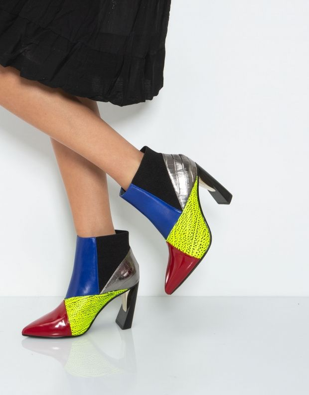 נעלי נשים - United Nude - מגפון ZINK PATCH HI - צבעוני