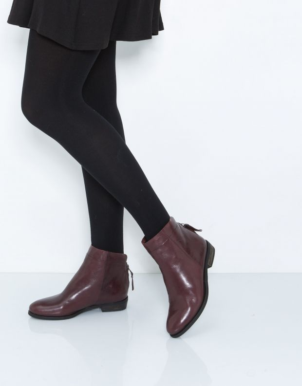 נעלי נשים - Yuko Imanishi - מגפון AOBA - בורדו