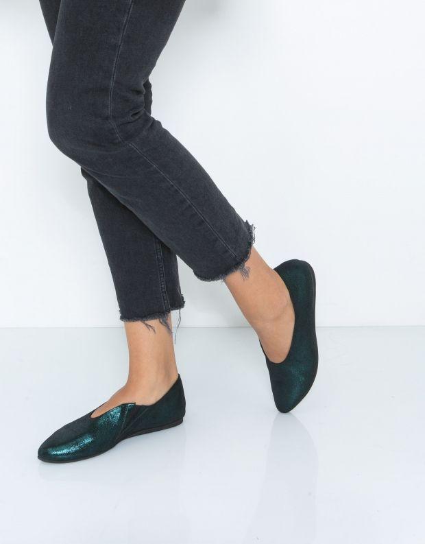 נעלי נשים - Yuko Imanishi - נעל ASUZA מבריקה - ירוק