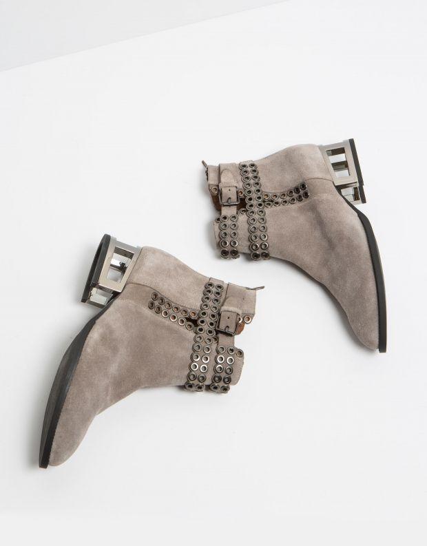 נעלי נשים - Jeffrey Campbell - מגפון BELSHAW - בז'