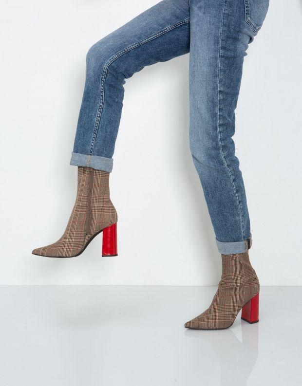 נעלי נשים - Jeffrey Campbell - מגפון SIREN - חום   לבן