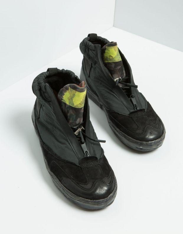 נעלי גברים - A.S. 98 - סניקרס גבוה MUNDIAL רוכסן - שחור