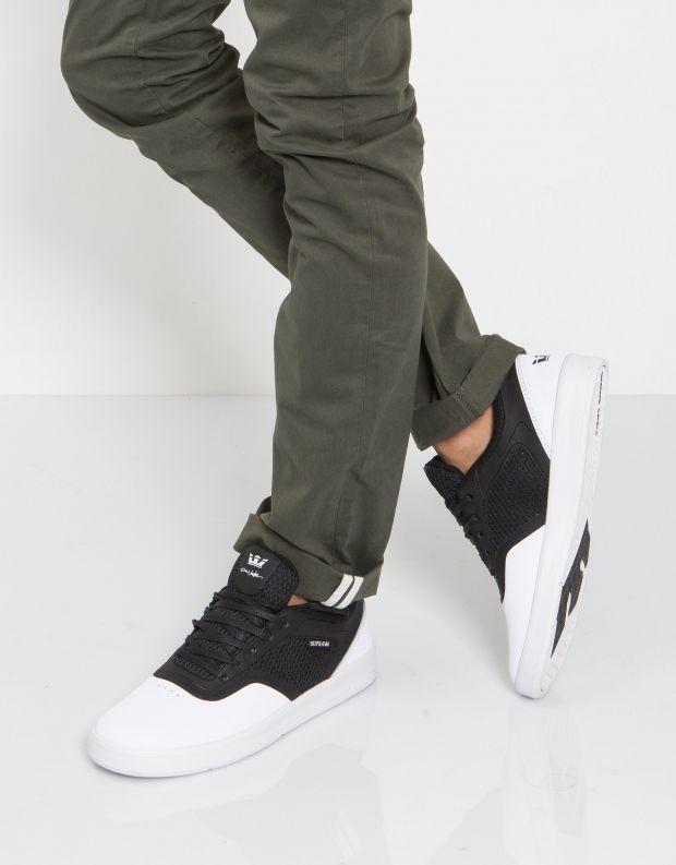 נעלי גברים - Supra - סניקרס SAINT - לבן   שחור