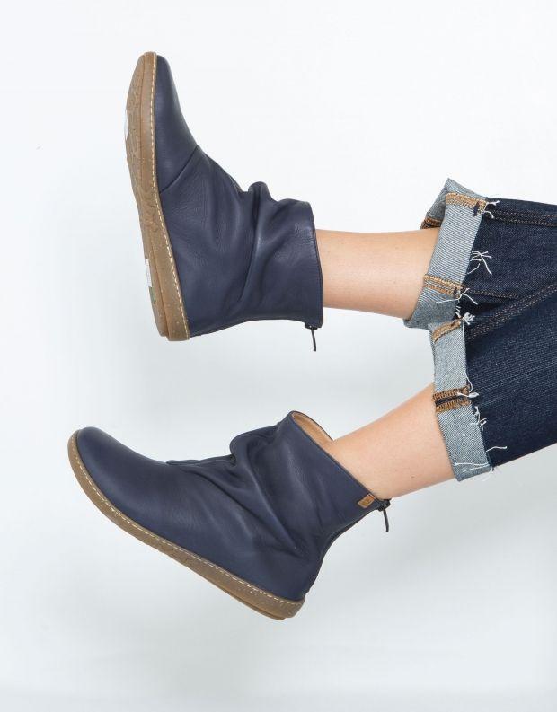 נעלי נשים - El Naturalista - מגפון CORAL קפלים - כחול