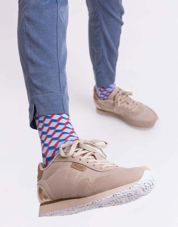 נעלי נשים - Woden - סניקרס NORA - בז'