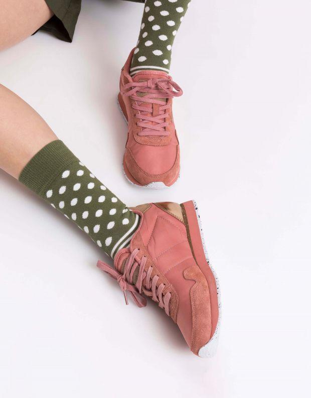נעלי נשים - Woden - סניקרס NORA - ורוד עתיק