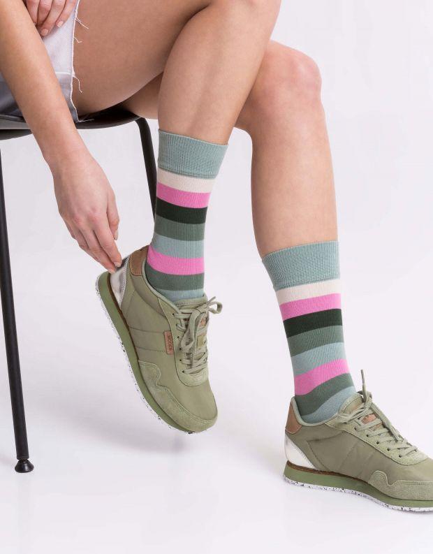 נעלי נשים - Woden - סניקרס NORA - ירוק בהיר