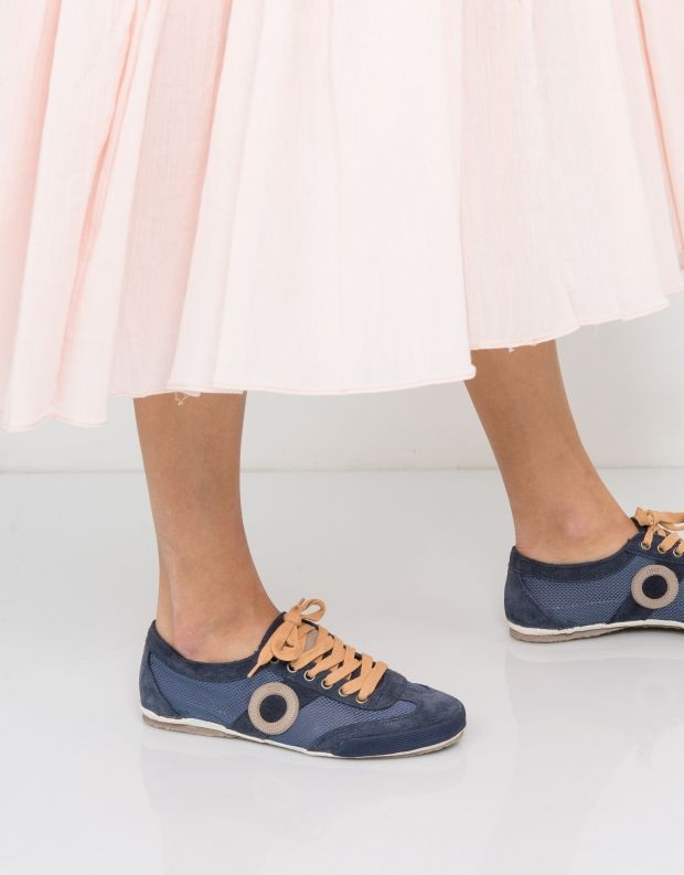 נעלי נשים - Aro - סניקרס JOANETA - כחול   חום