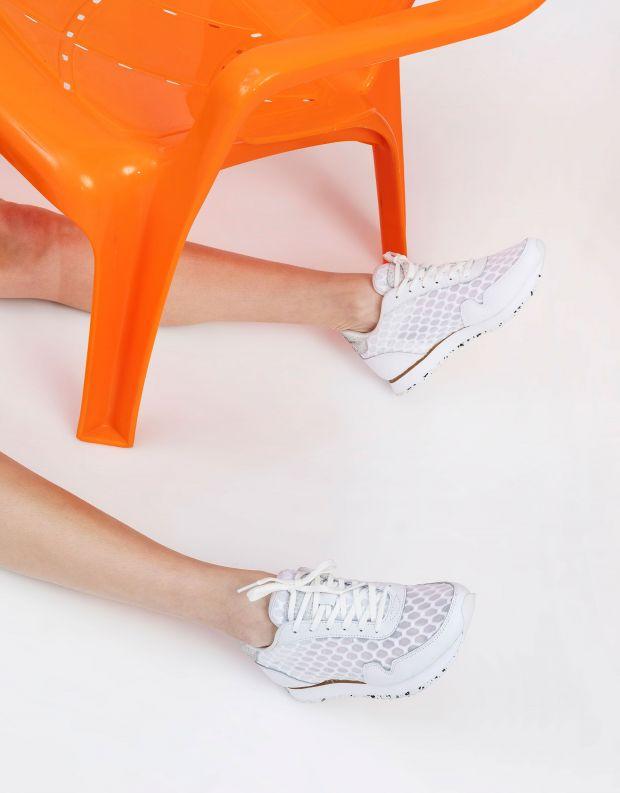 נעלי נשים - Woden - סניקרס NORA MESH - לבן