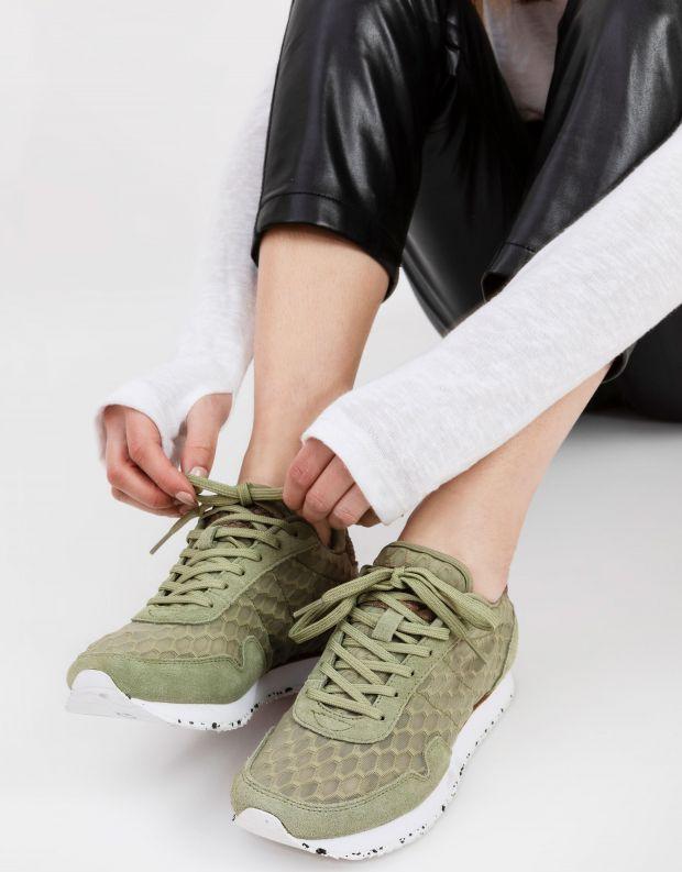 נעלי נשים - Woden - סניקרס NORA MESH - זית