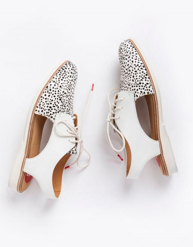 נעלי נשים - Rollie - נעל  SLINGBACK ENIMAL - לבן נקודות
