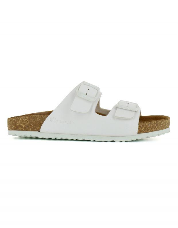 נעלי נשים - El Naturalista - כפכפי WARAJI VEGAN - לבן