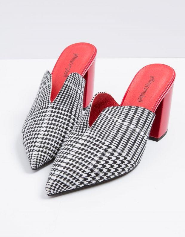 נעלי נשים - Jeffrey Campbell - קבקב COMPLETE - שחור לבן
