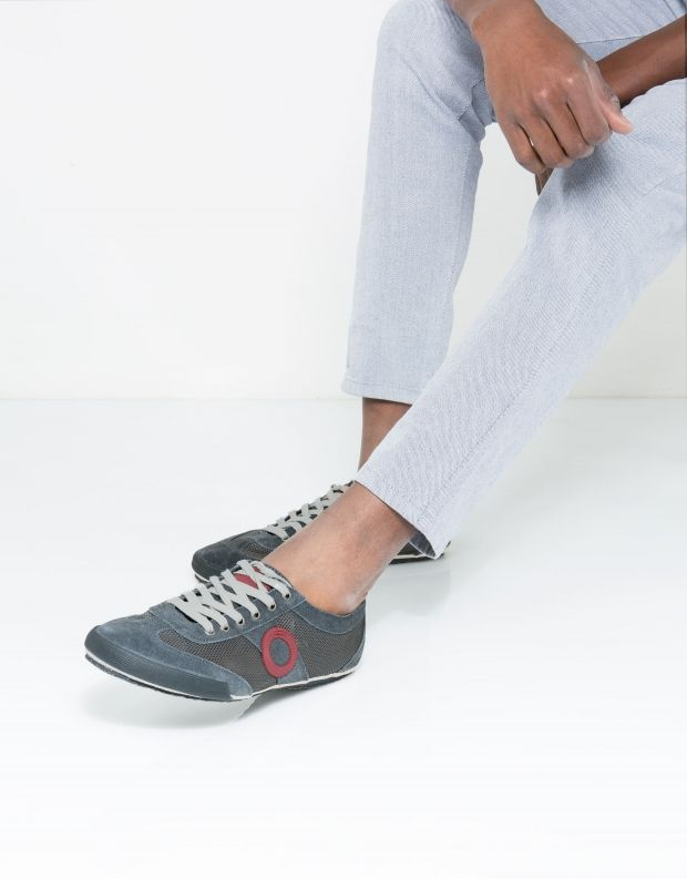 נעלי גברים - Aro - סניקרס JOANETA - אפור   אדום