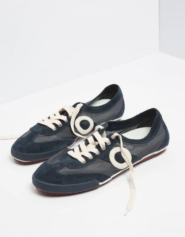 נעלי גברים - Aro - סניקרס JOANETA - כחול   לבן
