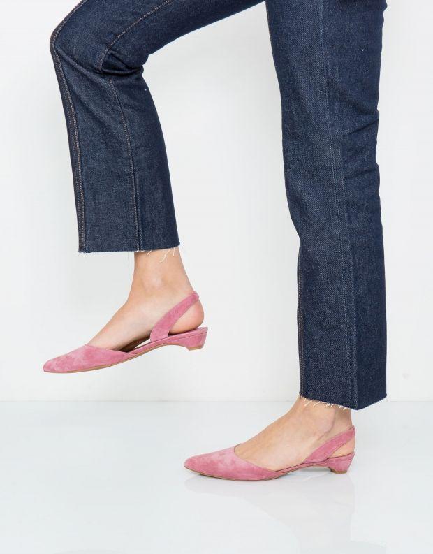 נעלי נשים - Jeffrey Campbell - סירה SHEREE זמש - ורוד