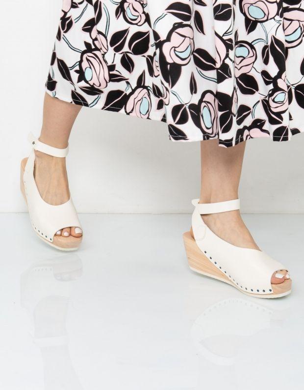 נעלי נשים - Trippen - סנדל ORINOCO WOOD - לבן