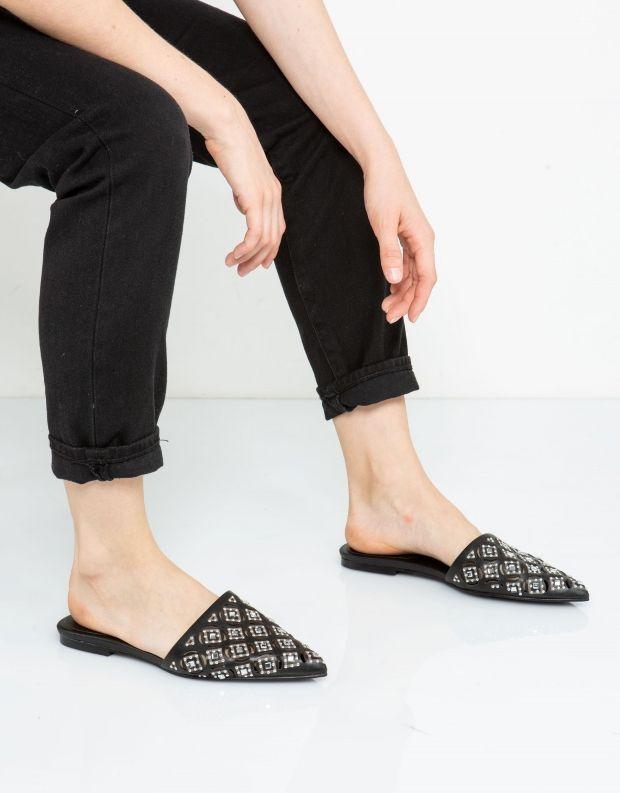 נעלי נשים - Jeffrey Campbell - קבקב VIRGIL ניטים - שחור
