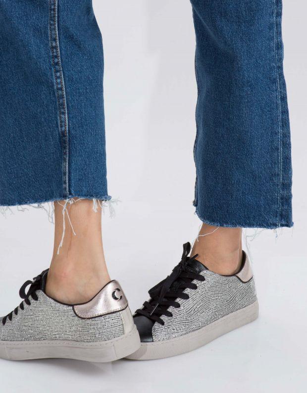 נעלי נשים - Crime London - סניקרס BEAT טקסטורה - כסף   שחור