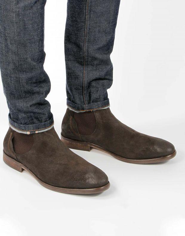 נעלי גברים - Hudson - מגפון WATCHLEY זמש - חום