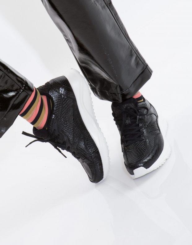 נעלי נשים - Woden - סניקרס SOPHIE SNAKE - שחור