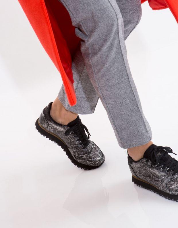 נעלי נשים - Woden - סניקרס YDUN SNAKE - שחור מטאלי