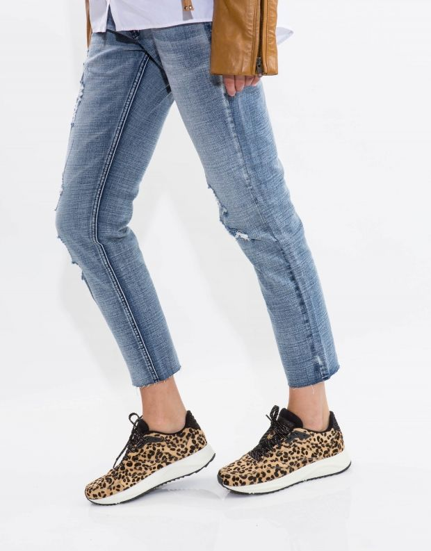 נעלי נשים - Woden - סניקרס SOPHIE PONY - בז' מנומר