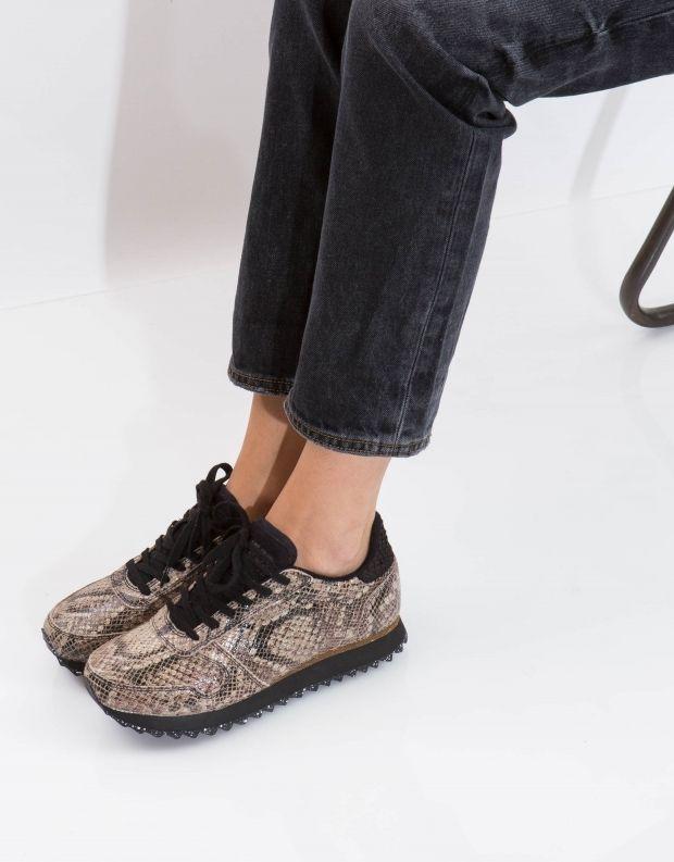 נעלי נשים - Woden - סניקרס YDUN SNAKE - חום