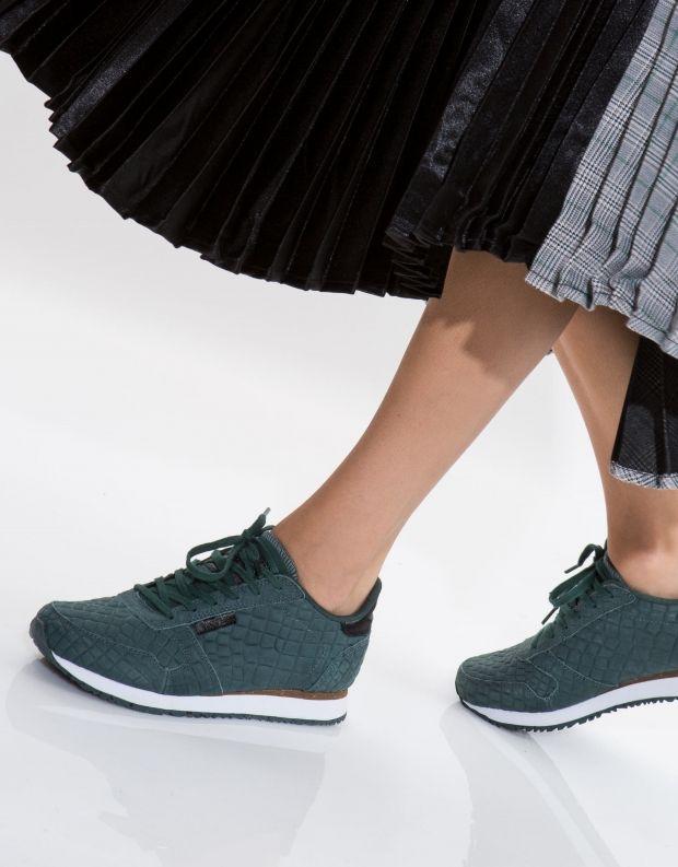 נעלי נשים - Woden - סניקרס YDUN CROCO - ירוק