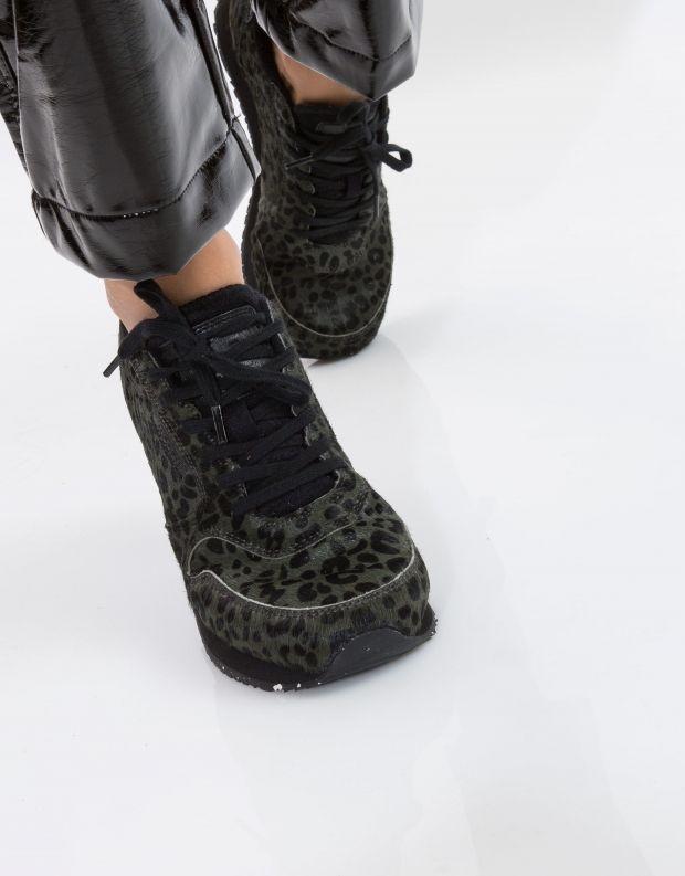 נעלי נשים - Woden - סניקרס YDUN PONY - ירוק מנומר