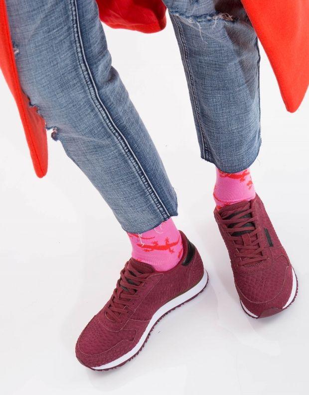 נעלי נשים - Woden - סניקרס YDUN CROCO - בורדו