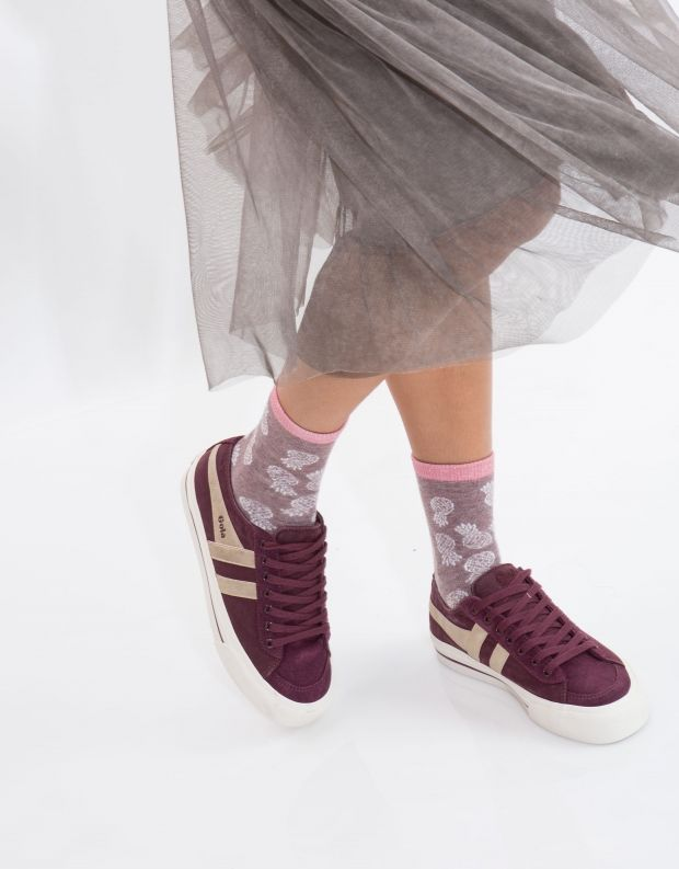 נעלי נשים - Gola - סניקרס QUOTA II MIRROR - בורדו