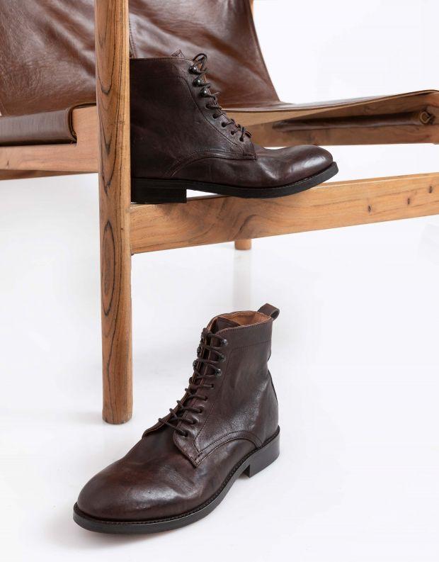 נעלי גברים - Hudson - נעלי עור YEW - חום
