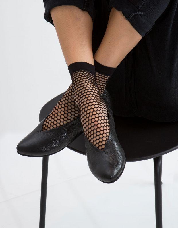 נעלי נשים - Yuko Imanishi - סירה KEITA - שחור מבריק