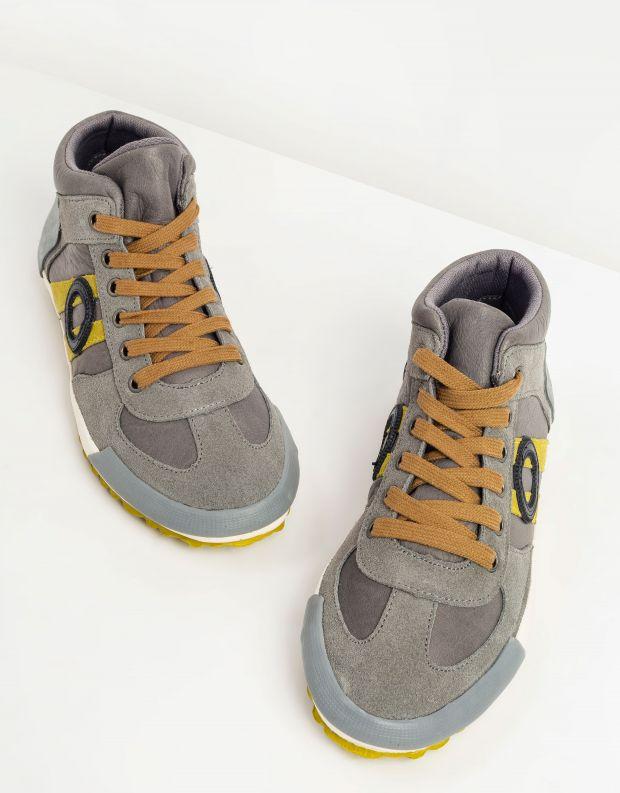 נעלי גברים - Aro - סניקרס גבוהות IDO - אפור   צהוב