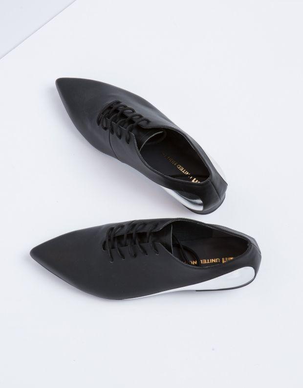 נעלי נשים - United Nude - נעל FLOW OXFORD - שחור   כסף