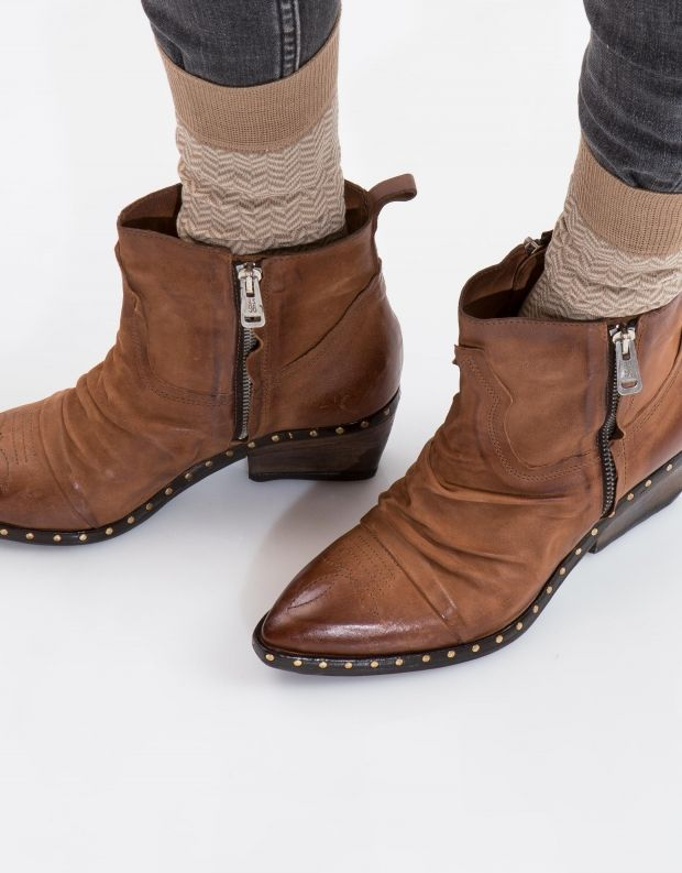 נעלי נשים - A.S. 98 - מגפון SATUR כיווצים - חום בהיר